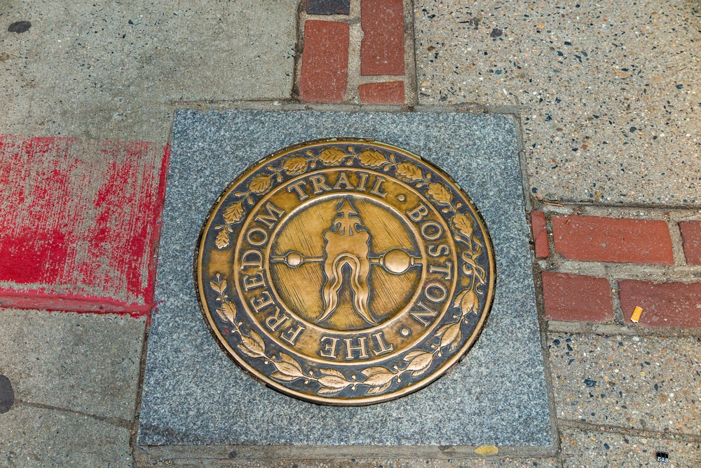 Freedom Trail path