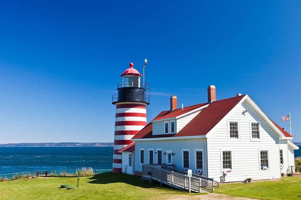 West Quoddy Head Light In Maine